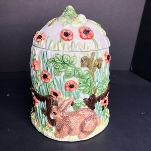 The Village Collectables by Annie Rowe Cookie Jar